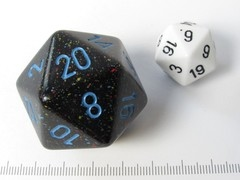 34 mm 20-zijdig, Speckled Blue Stars