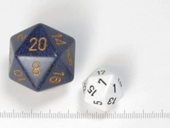 34 mm 20-zijdig, Speckled Golden Cobalt