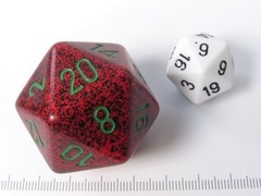 34 mm 20-zijdig, Speckled Strawberry