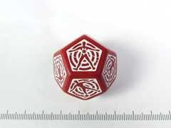 D12 Hit location Dice - Rood
