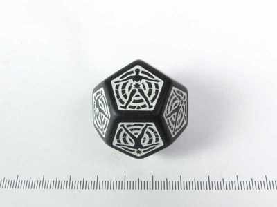 D12 Hit location Dice - Zwart