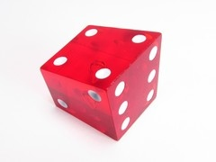 Koplow crooked dice, transparant rood
