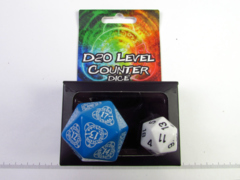 Q-Workshop d20 level counter, blauw