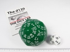 The Dice Lab 120-zijdig, groen