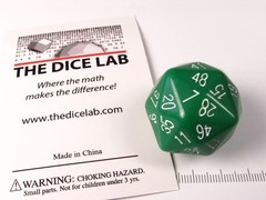 The Dice Lab 48-zijdig, groen