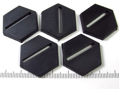 Miniature base - 25mm slotted hex (set of 5)