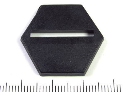 Miniature base - 25mm slotted hex