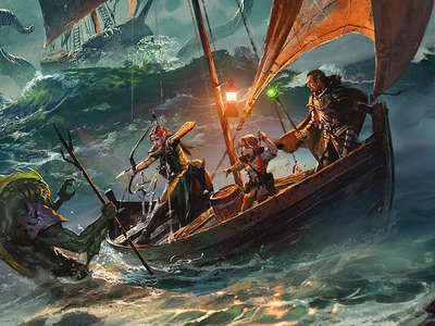 D&D Of the Ships and the Sea - DM screen