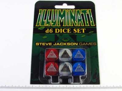 Illuminati - Six d6 dice set