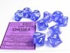 Set 12 6-zijdig Borealis Luminary Purple w/white