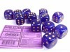 Set 12 6-zijdig Borealis Luminary Royal Purple w/gold