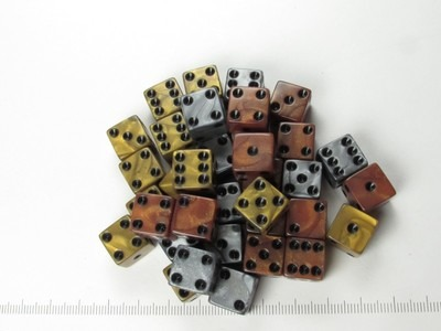 Set 36 6-sided 12mm, Olympic mix
