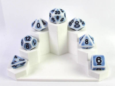 Ancient Porcelain polydice set