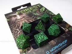 Forest polydice set - groen