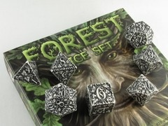Forest polydice set, wit