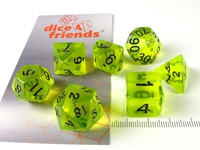 Gasoline - Dice 4 Friends polydice set
