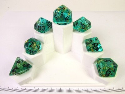 Imperial Emerald polydice set