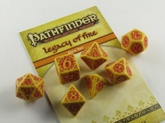 Pathfinder: Legacy of Fire polydice set
