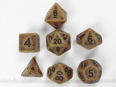 Polydice set Ancient Brass