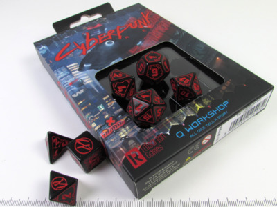 Cyberpunk Red polydice set - Black w/red