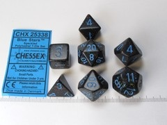 Set 7 polydice, Speckled Blue Stars