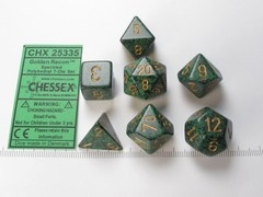 Set 7 polydice, Speckled Golden Recon