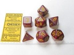 Set 7 polydice, Speckled Mercury