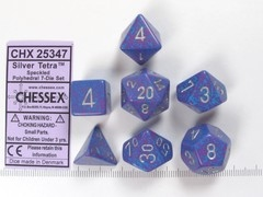 Set 7 polydice, Speckled Silver Tetra