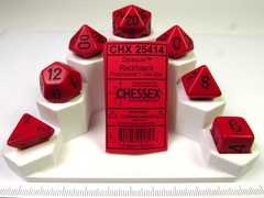 Chessex polydice set, Opaque Red w/black