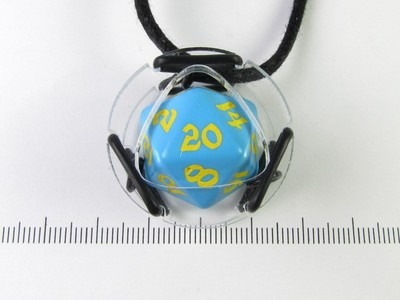 Plex Dice Keeper - Blue with yellow