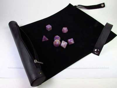 Roll  Up Case Black - travel sized dice carrier and roll mat