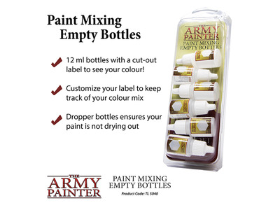Army Painter - Empty paint bottles for mixing
